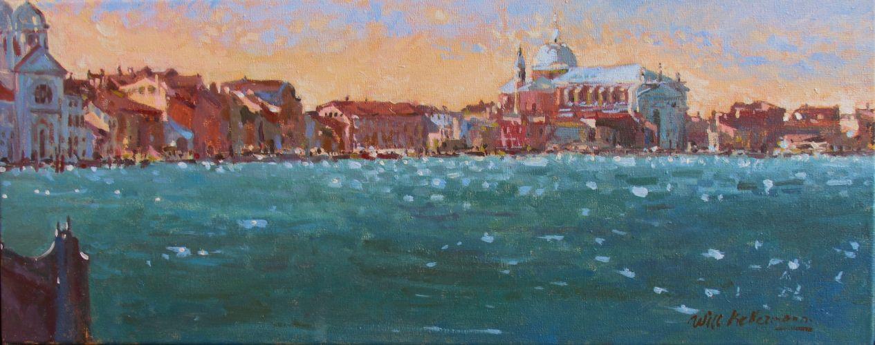 Zicht vanaf San Giorgio Venetië