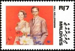 Postzegel Maladiven