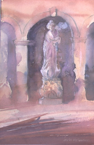 Kruikdraagster | Watercolor | 50 x 40 | € 450,00