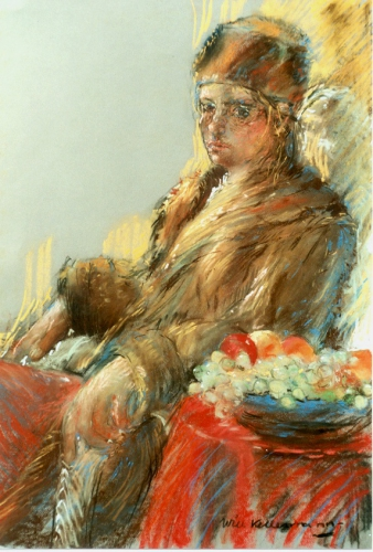 Lady in fur | 90 x 70 | nu € 975,00
